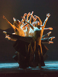 © Licensed to London News Pictures. 07/09/2015. London, UK. Dust, choreography and direction by Akram Khan. Working rehearsal of Lest We Forget performed by dancers from the English National Ballet at Sadler's Wells theatre. Lest We Forget is a reflectionon the First World War. Performances from 8 to 12 September 2015. Photo credit : Bettina Strenske/LNP