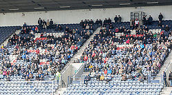 Away fans.<br /> Raith Rovers 2 v 4 Falkirk, Scottish Championship game today at Starks Park.<br /> &copy; Michael Schofield.