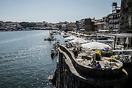 View of Porto from the river, Portugal.