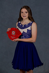 NEWPORT, WALES - Saturday, May 19, 2018: Cerys Jones during the Football Association of Wales Under-16's Caps Presentation at the Celtic Manor Resort. (Pic by David Rawcliffe/Propaganda)