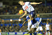 Rob Holden, Clayton Donaldson during the Sky Bet Championship match between Birmingham City and Bolton Wanderers at St Andrews, Birmingham, England on 23 February 2016. Photo by Daniel Youngs.