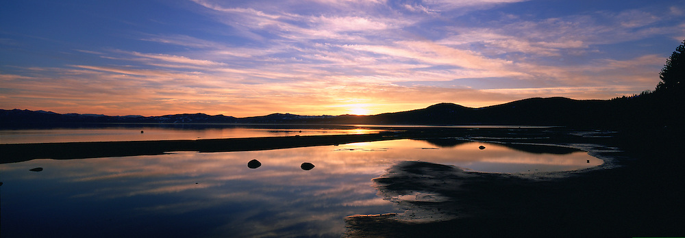 Sunset, Lake Tahoe, California, USA<br />