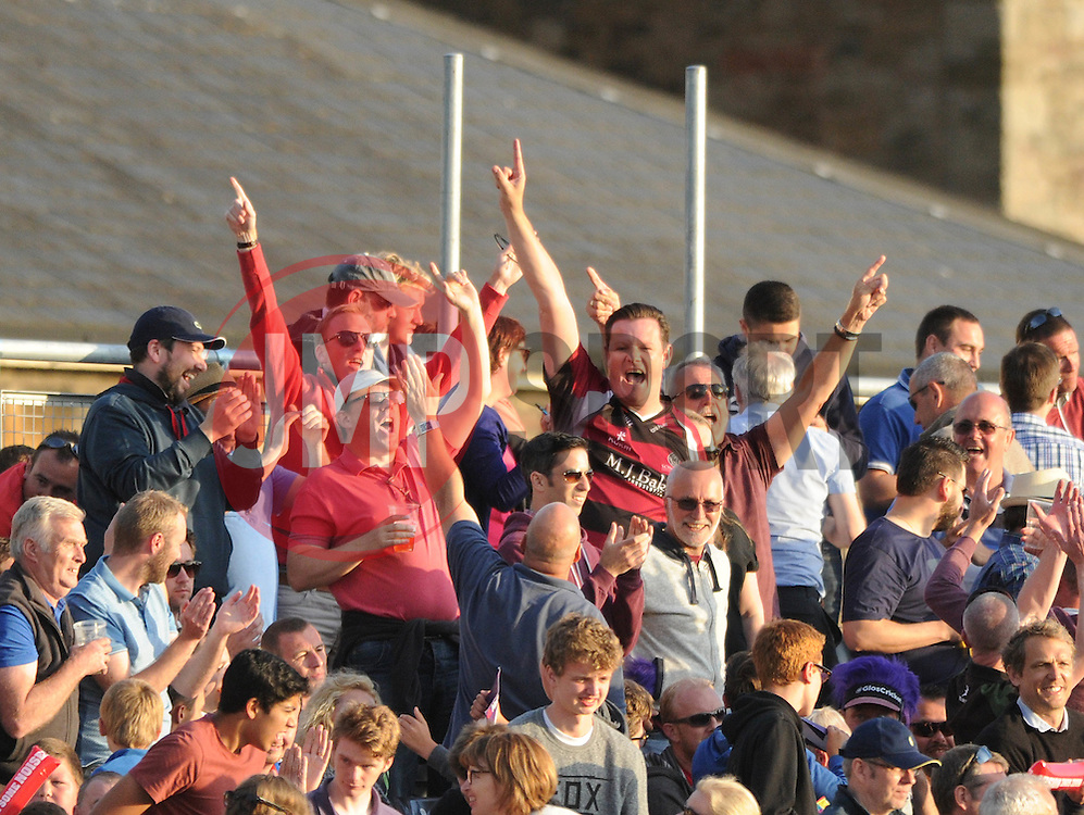 Somerset fans celebrate their teams victory against Gloucestershire in the T20 game - Photo mandatory by-line: Dougie Allward/JMP - Mobile: 07966 386802 - 19/06/2015 - SPORT - Cricket - Bristol - County Ground - Gloucestershire v Somerset - Natwest T20 Blast