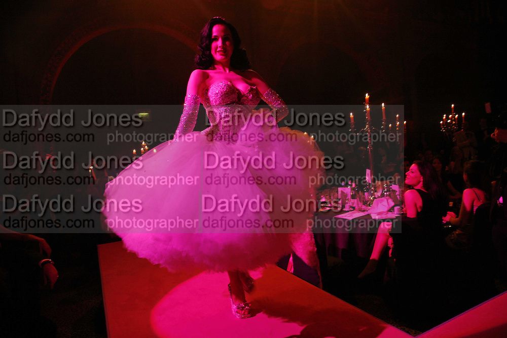 Dita von Teese, The Blush Ball, Natural History Museum, London<br />Breast Cancer Haven trust charity evening for the construction of a third Haven in North England. ONE TIME USE ONLY - DO NOT ARCHIVE  &copy; Copyright Photograph by Dafydd Jones 66 Stockwell Park Rd. London SW9 0DA Tel 020 7733 0108 www.dafjones.com