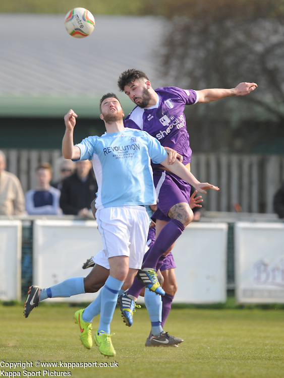 Miles Welch Hayes Daventry, Daventry Town (Purple) v Rugby Town (Blue White),  Southern Football League Central Division, Communications Park Daventry Saturday 18th April 2015 Score Daventry 2 (OConnor 83, King 85) Rugby 0