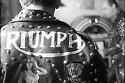 Thunderbirds, leather jacket with Triumph logo. UK, 1980s.