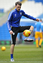 Scott Malone of Cardiff City warms up before the Sky Bet Championship game between Cardiff City and Preston North End on 27 February 2016 in Cardiff, Wales - Mandatory by-line: Paul Knight/JMP - Mobile: 07966 386802 - 27/02/2016 -  FOOTBALL - Cardiff City Stadium - Cardiff, Wales -  Cardiff City v Preston North End - Sky Bet Championship