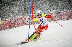 27.01.2015, Planai, Schladming, AUT, FIS Skiweltcup Alpin, Schladming, 1. Lauf, im Bild Patrick Thaler (ITA) // Patrick Thaler (ITA) during the first run of the men's slalom of Schladming FIS Ski Alpine World Cup at the Planai Course in Schladming, Austria on 2015/01/27, EXPA Pictures © 2015, PhotoCredit: EXPA/ Erwin Scheriau
