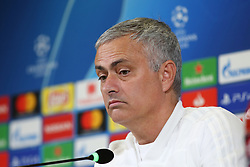 November 6, 2018 - Turin, Piedmont, Italy - Jos Mourinho, head coach of Manchester United FC, during the press conference on the eve of the UEFA Champions League match between Juventus FC and Manchester United FC,  at Allianz Stadium on November 06, 2018 in Turin, Italy. (Credit Image: © Massimiliano Ferraro/NurPhoto via ZUMA Press)