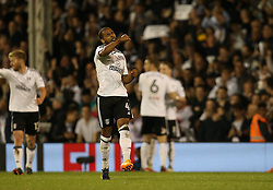 Denis Odoi of Fulham celebrates after he scores to make it 2-0 - Mandatory by-line: Paul Terry/JMP - 14/05/2018 - FOOTBALL - Craven Cottage - Fulham, England - Fulham v Derby County - Sky Bet Championship Play-off Semi-Final