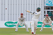 Hassan Azad batting during the Specsavers County Champ Div 2 match between Leicestershire County Cricket Club and Northamptonshire County Cricket Club at the Fischer County Ground, Grace Road, Leicester, United Kingdom on 10 September 2019.