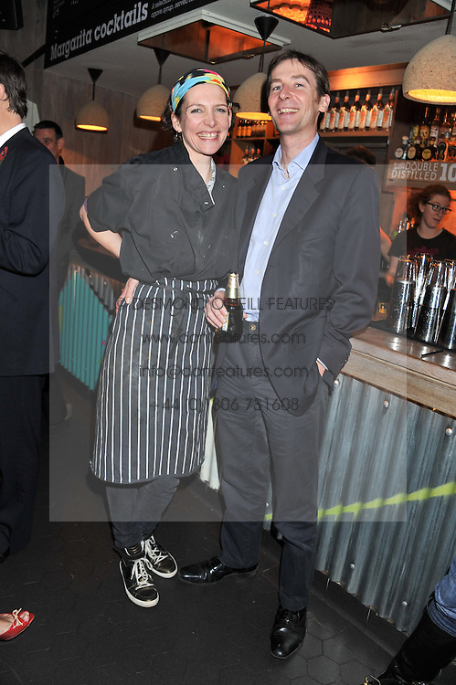 THOMASINA MIERS and her husband MARK WILLIAMS at a Mexican Feast cooked by Thomasina Miers in aid of the charity Too Many Women held at Wahaca Soho, 80 Wardour Street, London on 9th November 2011.