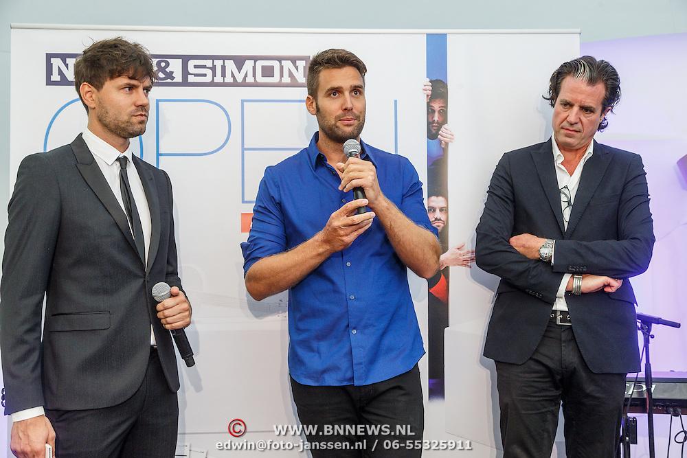 NLD/Zwolle20150917 - CD presentatie Open van Nick & Simon en expositie opening, Simon Keizer, Nick Schilder, Ralph Keuning
