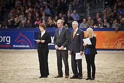 Jury, Van Woudenbergh Reijer, (NED), Aarts Ad, (NED), Van Der Velden Marloes, (NED)<br /> KWPN Henstenkeuring 's Hertogenbosch 2015<br /> © Dirk Caremans