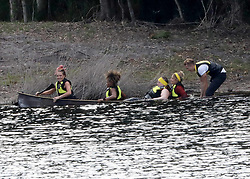 "EXCLUSIVE: ""I'm a Celebrity, Get me Out of Here!"" UK contestants compete in a canoe race, at a lake just outside of Byron Bay. 17 Nov 2018 Pictured: I'm a Celebrity UK contestants. Photo credit: MEGA TheMegaAgency.com +1 888 505 6342"