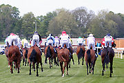 Horses in The Listed Langleys Solicitors British EBF Marygate Fillies Stakes over 5f (£50,000) gallop past the Winning Post during the third day of the Dante Festival at York Racecourse, York, United Kingdom on 17 May 2019.