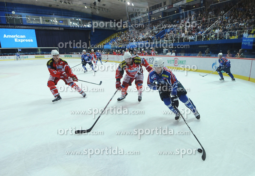 29.08.2014, Dom Sportova, Zagreb, CRO, KHL Medvescak vs KAC Klagenfurt, Eishockey Vorbereitungsspiel, im Bild Patrick Bjorkstrand // during a Hockey pre-season match between KHL Medvescak and KAC Klagenfurt at the Dom Sportova in Zagreb, Croatia on 2014/08/29. EXPA Pictures &copy; 2014, PhotoCredit: EXPA/ Pixsell/ Marko Lukunic<br /> <br /> *****ATTENTION - for AUT, SLO, SUI, SWE, ITA, FRA only*****