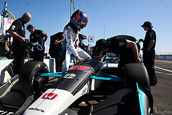 March 9, 2019 - St. Petersburg, Florida, U.S. - DIRK SHADD   |   Times  .IndyCar driver Colton Herta climbs into the cockpit of his car in pit lane before Herta takes to the track for an IndyCar practice session at the Grand Prix of St. Petersburg in St. Petersburg on Saturday, March 9, 2019. Herta is a driver for Harding Steinbrenner Racing team which is co-owned by George Steinbrenner IV. (Credit Image: © Dirk Shadd/Tampa Bay Times via ZUMA Wire)