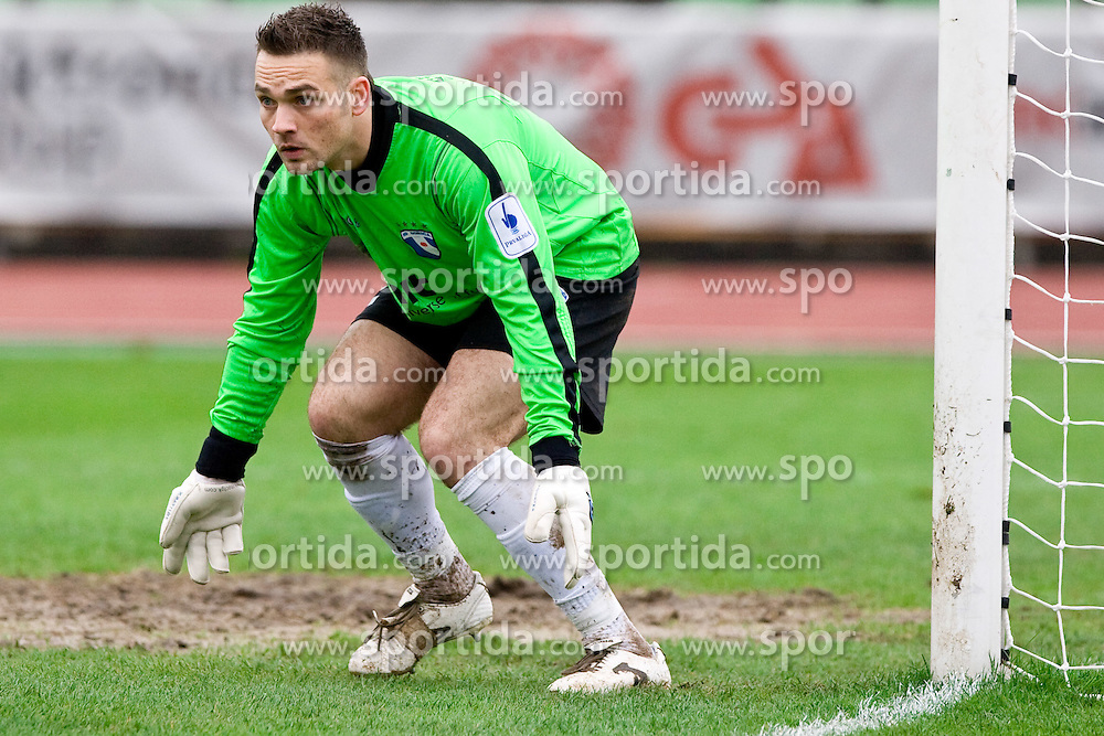 Vasja Simcic of Gorica at football match of 25th Round of 1st Slovenian League  between NK Interblock and NK Hit Gorica, on March 31, 2010, in ZAK Stadium, Ljubljana, Slovenia. Gorica defeated Interblock 5-0. (Photo by Vid Ponikvar / Sportida)