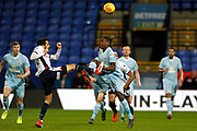 Bolton Wanderers midfielder Jem Karacan (8) and Sunderland striker Joel Asoro (29) during the EFL Sky Bet Championship match between Bolton Wanderers and Sunderland at the Macron Stadium, Bolton, England on 20 February 2018. Picture by Craig Galloway.