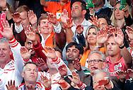 THE HAGUE - Koning Willem Alexander en koningin Maxima zijn aanwezig bij de finale van het WK beachvolleybal op de Haagse Hofvijver tussen Nederland en Brazilie COPYRIGHTROBIN URTRECHT