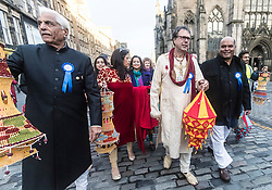The Edinburgh Diwali celebration culminates in a procession from the City Chambers on the historic Royal Mile to the Princes Street Gardens. Celebrated throughout the world by Hindus, Seikhs and Jains, the Festival of Light symbolises the victory of good over evil. People celebrate Diwali through distributing sweets, gifts and thanks giving to each other.<br /> <br /> Pictured: Lord Provost Donald Wilson