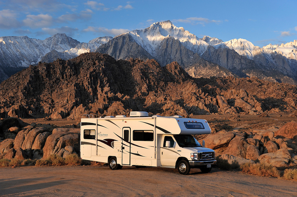 Roadbear RV Camper in the Alabama Hills, Lone Pine, California, USA