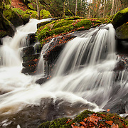 Waterfall in Valley de Darots, Auvergne, Livradois Forez, France