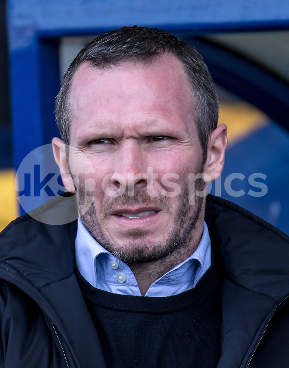 Manager of Oxford United Michael Appleton during the Sky Bet League 2 match between Oxford United and Stevenage at the Kassam Stadium, Oxford, England on the 25th March 2016. Photo by Liam McAvoy.