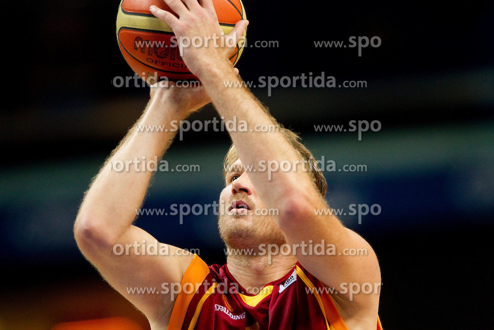 Todor Gechevski of Macedonia during basketball game between National basketball teams of  Georgia and Former Yugoslav Republic of Macedonia at FIBA Europe Eurobasket Lithuania 2011, on September 8, 2011, in Siemens Arena,  Vilnius, Lithuania. (Photo by Vid Ponikvar / Sportida)