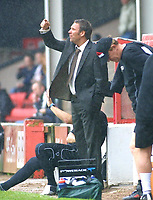 Photo: Dave Linney.<br />Walsall v Milton Keynes Dons. Coca Cola League 1.<br />08/10/2005. Paul Merson on the touchline during the game with MK Dons