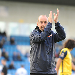 TELFORD COPYRIGHT MIKE SHERIDAN Guiseley joint boss Russ O'Neill during the Vanarama National League Conference North fixture between AFC Telford United and Guiseley on Saturday, October 19, 2019.<br /> <br /> Picture credit: Mike Sheridan/Ultrapress<br /> <br /> MS201920-026