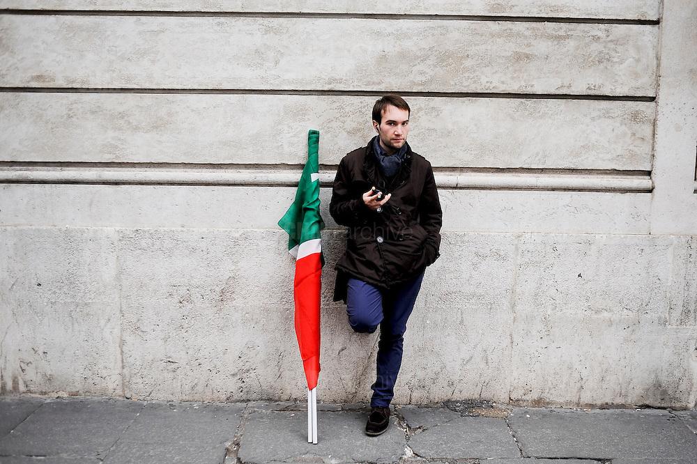 Demonstration  against the decline as senator of Silvio Berlusconi.Rome, 27 november 2013 Daniele Stefanini/ OneShot