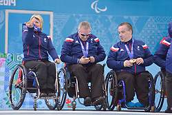 Angie Malone, Jim Gault, Bob McPherson, Wheelchair Curling Finals at the 2014 Sochi Winter Paralympic Games, Russia