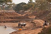 Gathering water, Taung Zin Village near Bagan, Burma