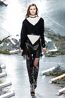 Roxy Kiscinska (NEXT) walks the runway wearing Rodarte Fall 2015 during Mercedes-Benz Fashion Week in New York on February 17, 2015
