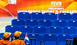 03-10-2018 JPN: World Championship Volleyball Women day 6, Yokohama<br /> Netherlands - Mexico 3-0 / Two Japanese Orange support