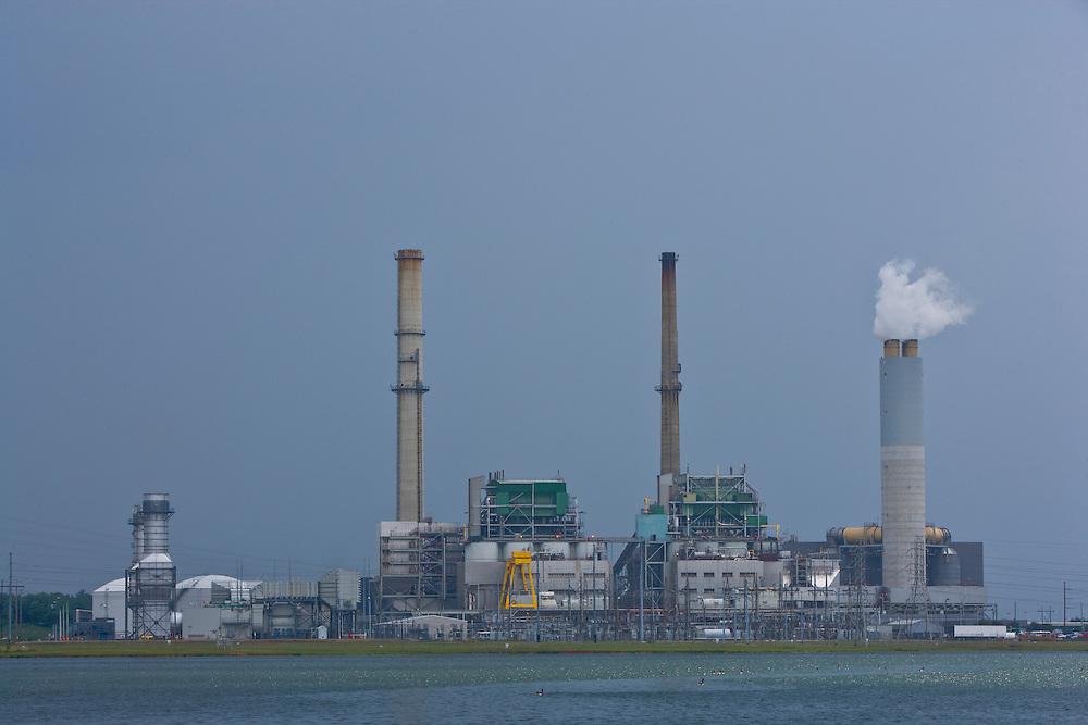 Progress Energy Power Plant in Asheville, North Carolina, U.S.A.