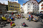Glurns, Italy - Small town at the base of Stelvio Pass