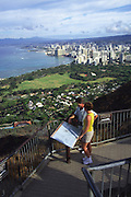 View from Diamond Head, Waikiki, Oahu, Hawaii<br />