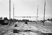 Festival set-up, at Glastonbury, 1989.
