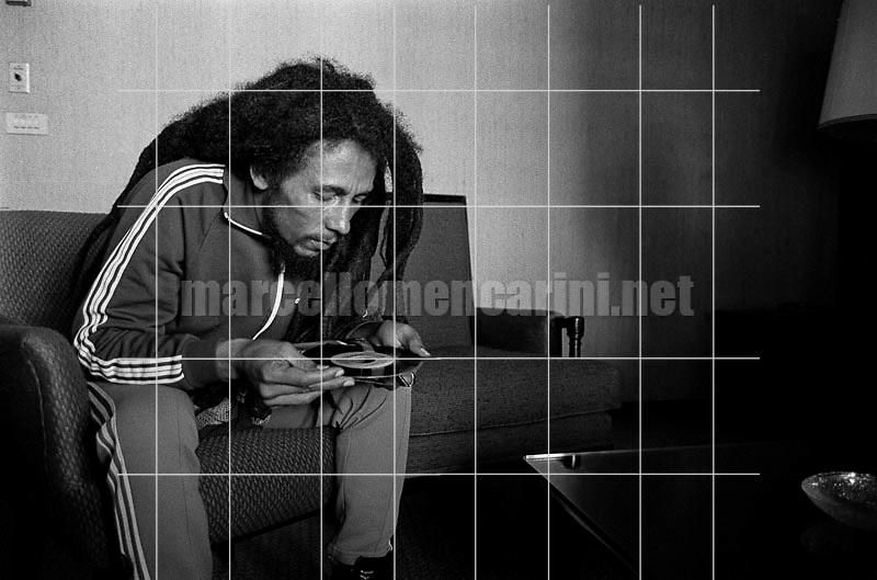 Milan, June 27, 1980. Jamaican reggae musician Bob Marley during the presentation of his Golden Record Award / Milano, 27 giugno 1980. Il musicista reggae Bob Marley durante la consegna del suo disco d'oro - © Marcello Mencarini