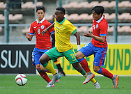 CAPE TOWN, SOUTH AFRICA - Sunday 27 September 2015: Khanyisa Mayo of South Africa during the U17 International friendly soccer match between South Africa v Chile at Athlete Stadium. (Photo by Roger Sedres/ImageSA)