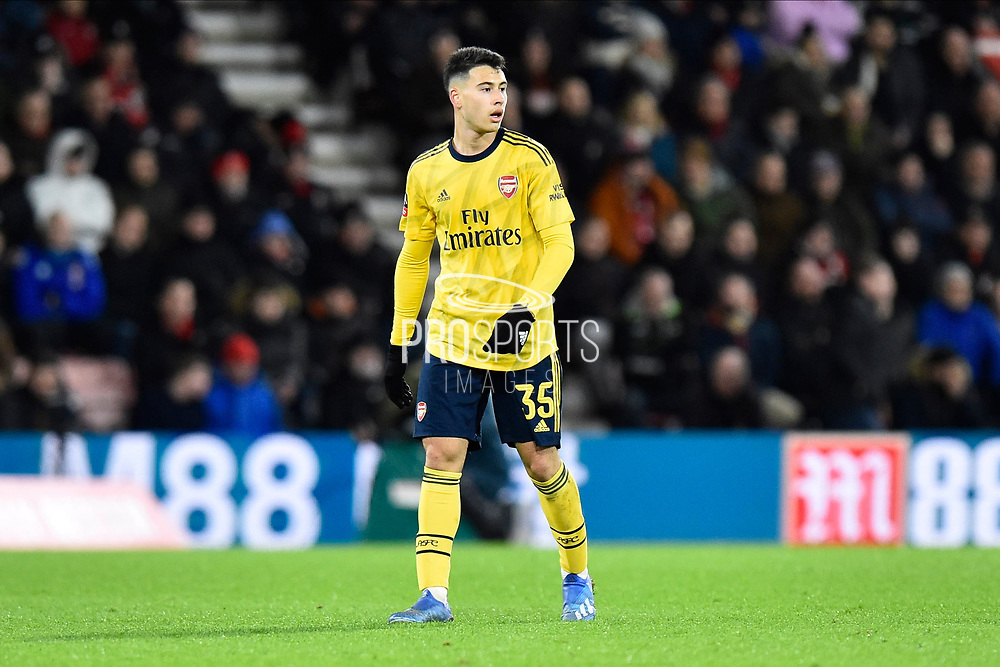 Gabriel Martinelli (35) of Arsenal during the The FA Cup match between Bournemouth and Arsenal at the Vitality Stadium, Bournemouth, England on 27 January 2020.