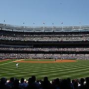 A panoramic view of Yankee Stadium from right field during the New York Yankees V Cincinnati Reds Baseball game at Yankee Stadium, The Bronx, New York. 19th May 2012. Photo Tim Clayton