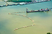 Aerial view of  Dredging at the Port of Wilmington, DE and Christian River. Aerial view of Nautical Vessel Aerial view of Nautical Vessel Aerial view of Nautical Vessel