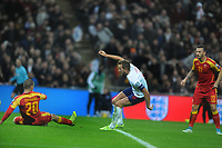 Football - 2019 / 2020 UEFA European Championships Qualifier - Group A: England vs. Montenegro<br /> <br /> Harry Kane of England scores his third goal, at Wembley Stadium.<br /> <br /> This game is England men's 1,000 international match.<br /> <br /> COLORSPORT/ANDREW COWIE