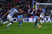 Javier Hernandez of West Ham United (17) looks to attack forward during the Premier League match between Huddersfield Town and West Ham United at the John Smiths Stadium, Huddersfield, England on 10 November 2018.