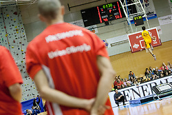 Joksimovic watching Dunking Devils during Slovenian basketball All Stars Grosuplje 2013 event, on December 29, 2013 in Arena Brinje, Grosuplje, Slovenia. (Photo By Urban Urbanc / Sportida.com)