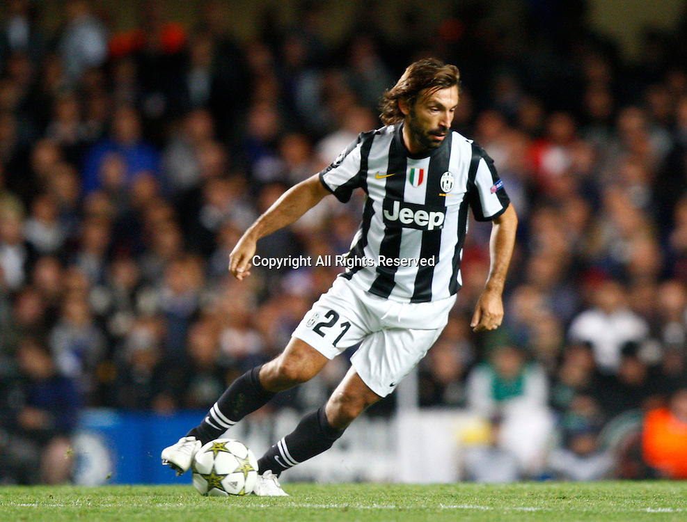 19.09.12 London, ENGLAND: <br /> Andrea Pirlo of Juventus F.C.<br /> during the UEFA Champions League Group E match between Chelsea and  Juventus at Stamford Bridge Stadium